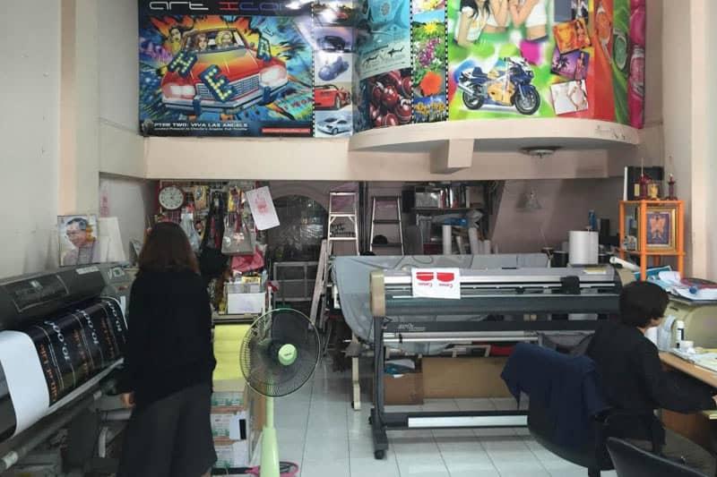 バンコクの街の印刷屋にポスター制作を相見積もりした体験談