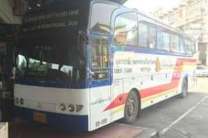 ラオス行き国際バス