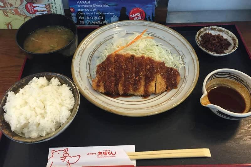 タイ・タニヤシーロム「矢場とん」名古屋みそカツ感想とメニュー値段