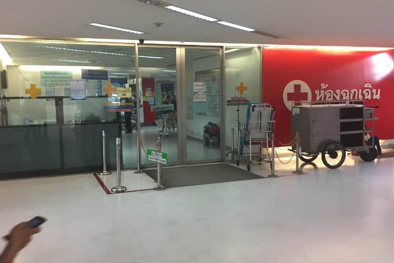 タイバンコクで病院の行き方・タニヤ一番近い大学病院で診察券作成
