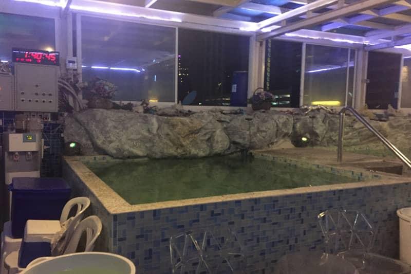 バンコクシーロム「温泉スカイスパ」サウナ風呂マッサージが深夜営業