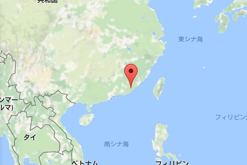 潮州の位置。