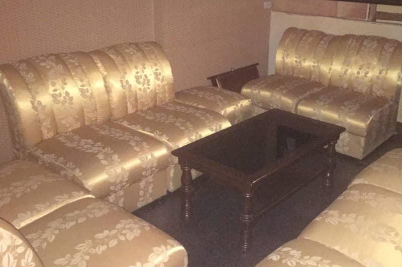 ホールフロア部分のボックス席。
