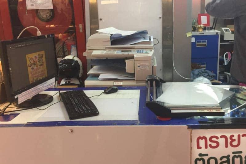 タイ観光に便利・タニヤでパスポートコピーや地図印刷が安くできる店