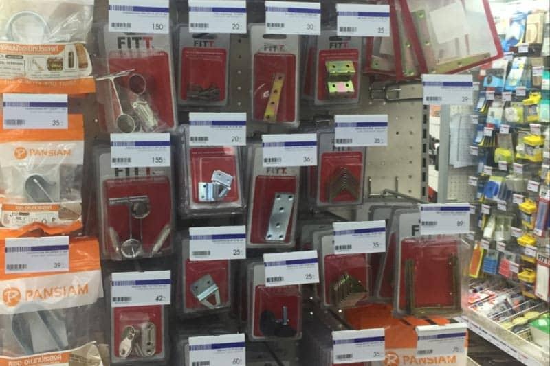 タイでDIY!ホームセンター・ホームプロ営業時間・工具や部品が豊富