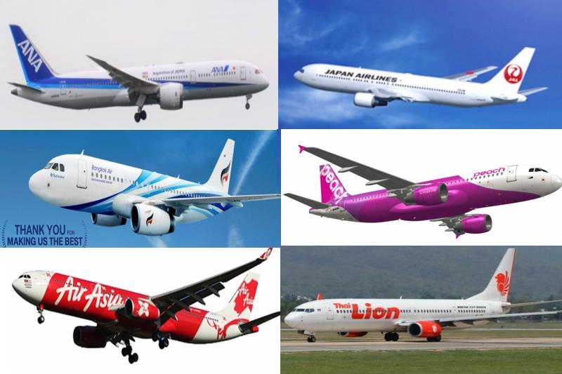 【2019年4月】日本とタイ・バンコクを結ぶ航空会社と使用機体