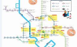 バンコク路線図電車マップと、昼と夜の遊び場所の地名付き地図まとめ